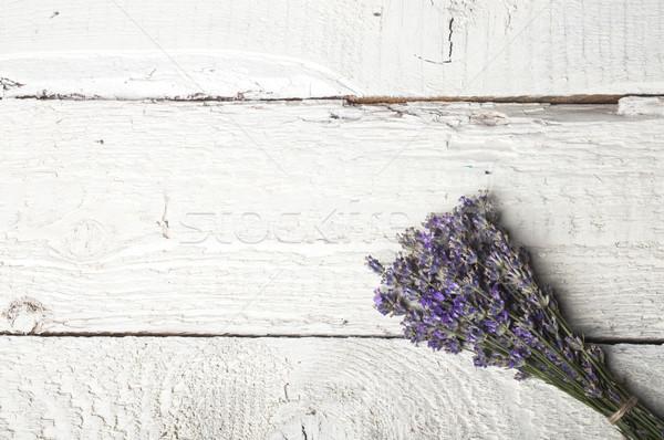 Spa lavanta beyaz ahşap doku Stok fotoğraf © NikiLitov