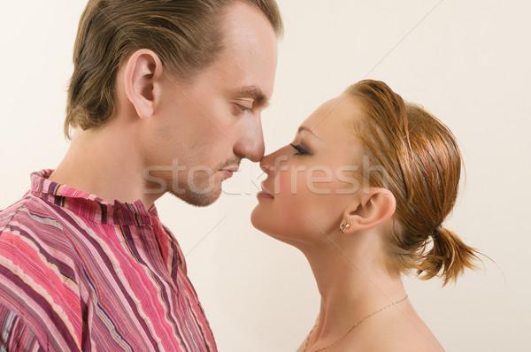 Touching noses Stock photo © nikitabuida