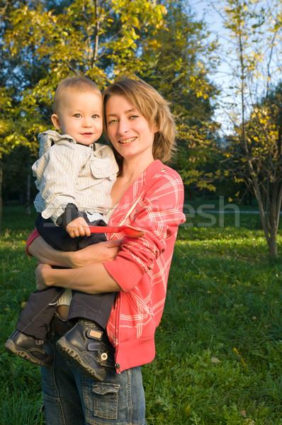 Happy parents with a baby Stock photo © nikitabuida
