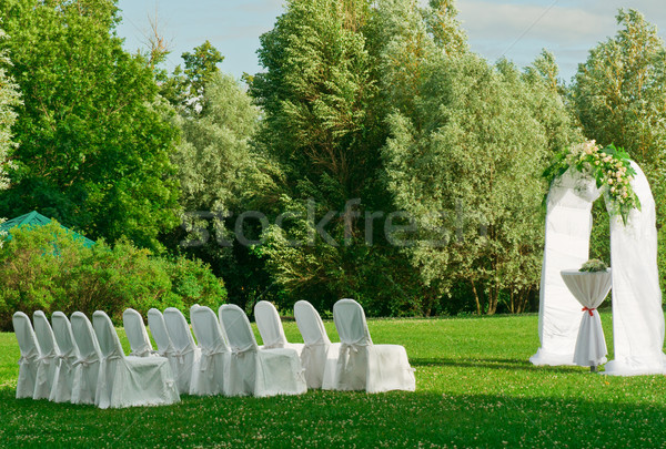 Outdoors wedding ceremony Stock photo © nikitabuida