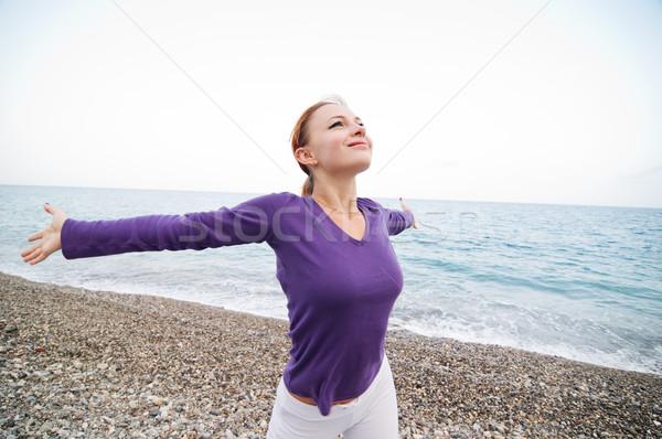 Woman Enjoying Freedom Stock photo © nikitabuida