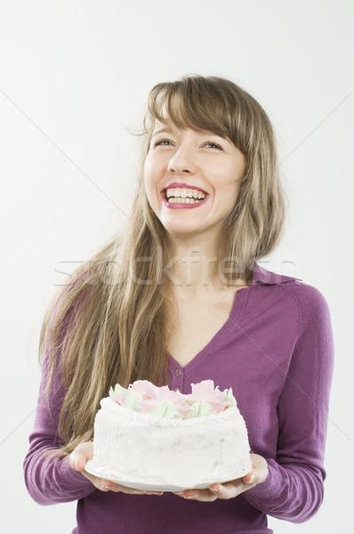 Beautiful girl with candy smiling Stock photo © nikitabuida