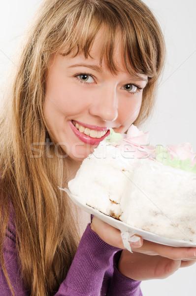 Сток-фото: красивая · девушка · конфеты · красивой · женщину