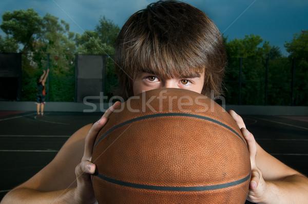 Closeup of a basketball player Stock photo © nikitabuida