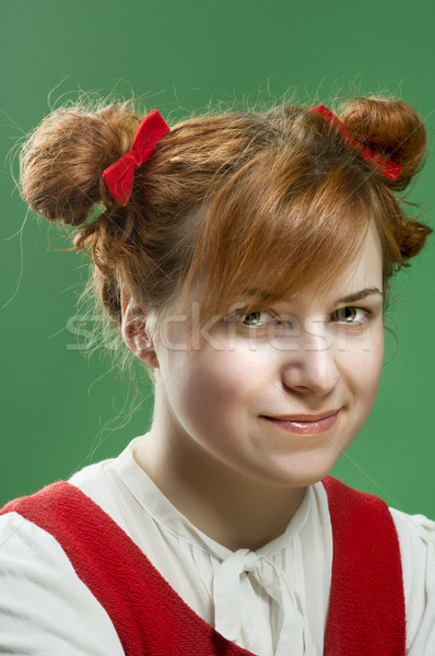 Girl with pigtails Stock photo © nikitabuida