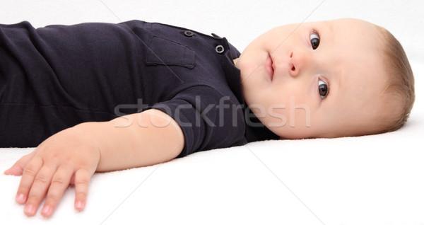 ребенка назад глаза лице красоту портрет Сток-фото © nikkos