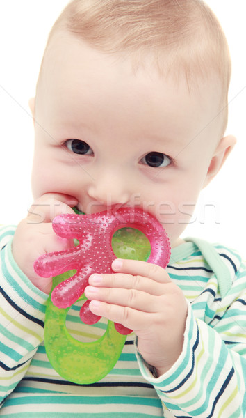 baby with teether Stock photo © nikkos