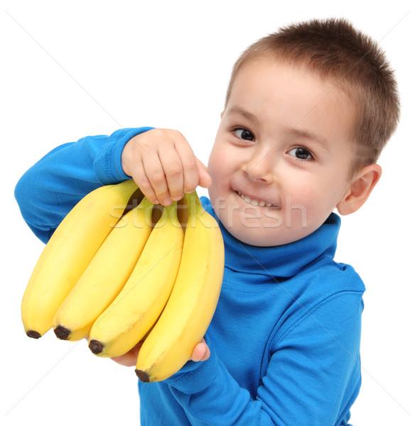 мало мальчика бананы продовольствие счастливым фон Сток-фото © nikkos