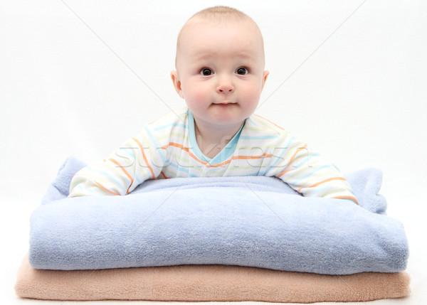 красивой ребенка ухода ванны лице счастливым Сток-фото © nikkos
