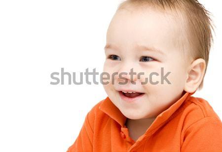 счастливым ребенка лице мальчика улыбка глаза Сток-фото © nikkos
