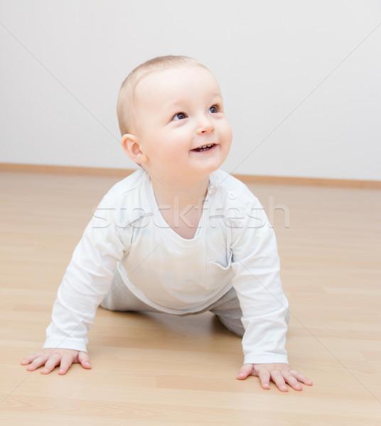 Mutlu bebek erkek eller arka plan Stok fotoğraf © nikkos