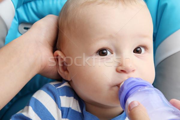 ребенка напитки молоко ребенка матери портрет Сток-фото © nikkos