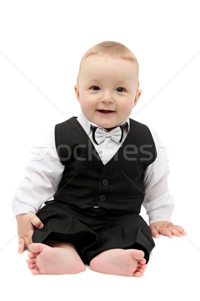 мало ребенка костюм бизнеса лице моде Сток-фото © nikkos