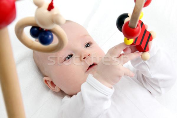 Сток-фото: Игрушки · для · маленьких · детей · красивой · ребенка · назад · играет · игрушками
