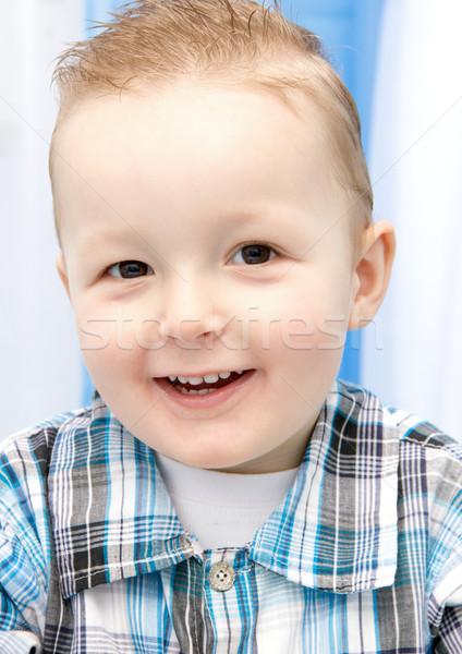 счастливым ребенка красивой улыбка ребенка глазах Сток-фото © nikkos