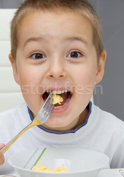 ребенка еды счастливым дети обеда мальчика Сток-фото © nikkos