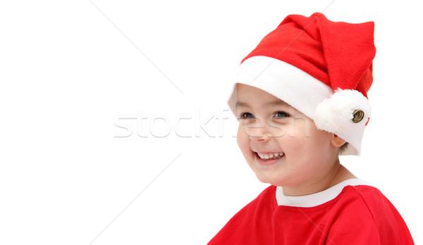 счастливым ребенка Дед Мороз Hat фон портрет Сток-фото © nikkos