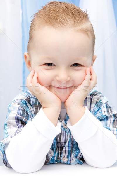 çocuk gülümseme güzel bebek yüz tablo Stok fotoğraf © nikkos