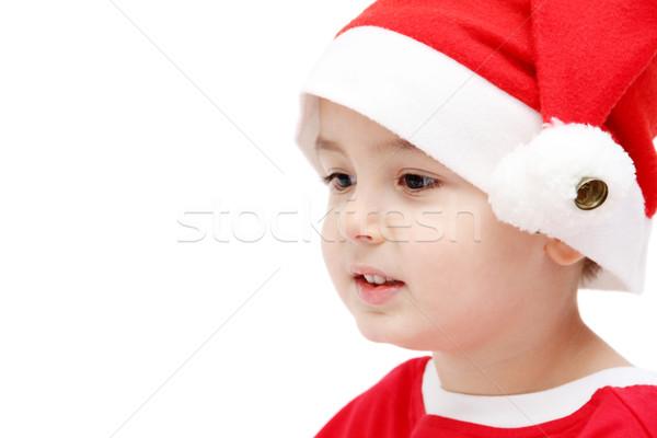 ребенка лице Hat фон портрет Сток-фото © nikkos