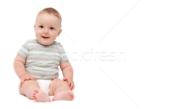 Bebek gülen gülümseme yüz mutlu çocuk Stok fotoğraf © nikkos