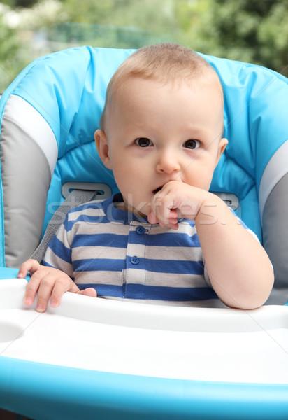 ребенка сидят лице ребенка портрет мальчика Сток-фото © nikkos