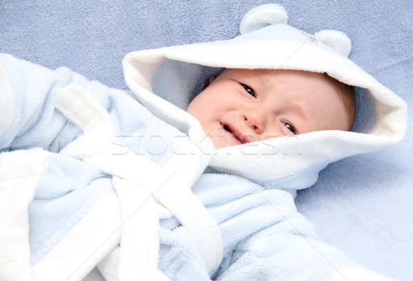 Bebek ağlayan küçük yatak yüz üzücü Stok fotoğraf © nikkos