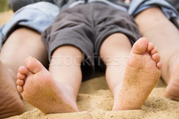 ног песок ребенка лет путешествия ногу Сток-фото © nikkos