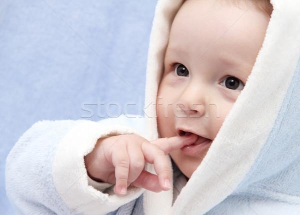 Güzel bebek banyo yüz portre erkek Stok fotoğraf © nikkos