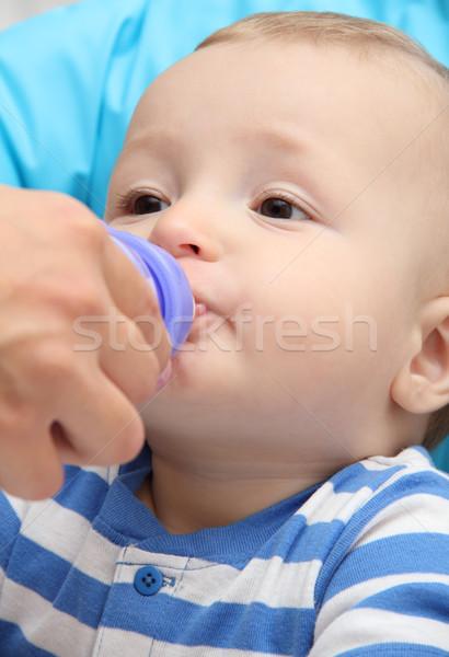мало мальчика напитки ребенка молоко ребенка Сток-фото © nikkos