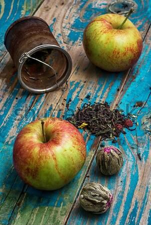 два зрелый яблоки детали Сток-фото © nikolaydonetsk