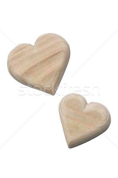 wooden hearts handmade  Stock photo © nikolaydonetsk