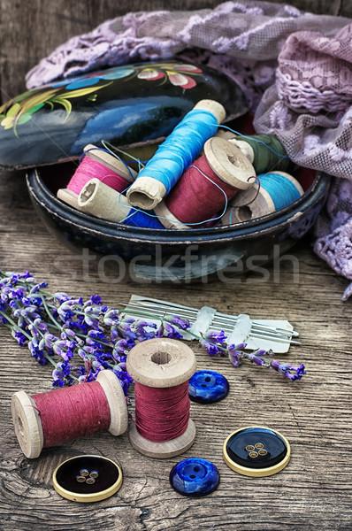 Desatualizado ferramentas alfaiate fio velho Foto stock © nikolaydonetsk