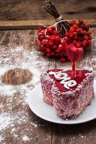 dessert for the holiday Valentine's day Stock photo © nikolaydonetsk