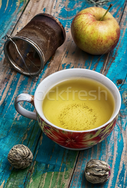 Cup of apple tea Stock photo © nikolaydonetsk