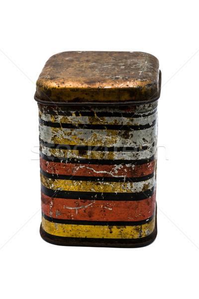 Velho fechado jarra estanho vintage estilo Foto stock © nikolaydonetsk