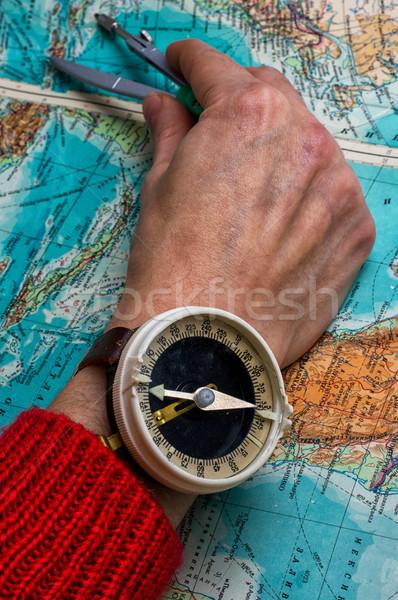 hand to indicate the route  Stock photo © nikolaydonetsk