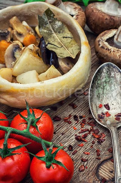 растительное горячей пластина продовольствие Сток-фото © nikolaydonetsk