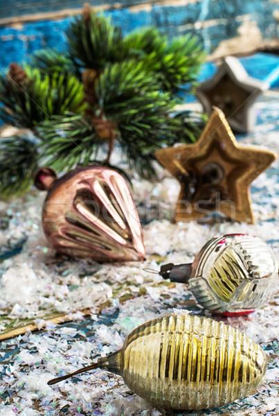 Süslemeleri yılbaşı tatil kar kış Noel Stok fotoğraf © nikolaydonetsk
