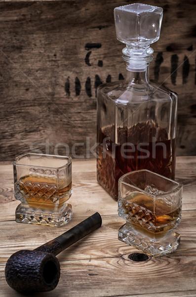 alcoholic drink of whiskey Stock photo © nikolaydonetsk