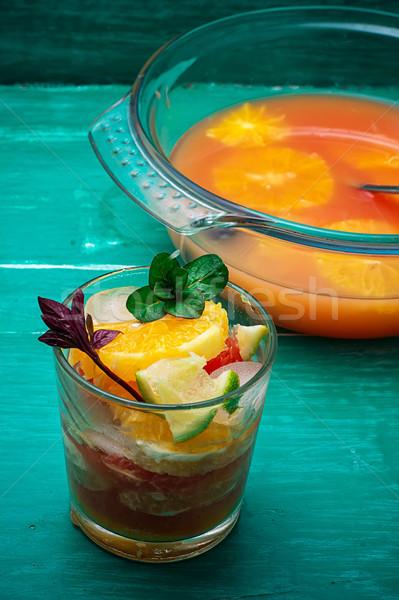 freshly squeezed juice from tropical fruits Stock photo © nikolaydonetsk