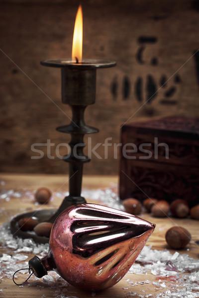 candle in the candlestick Stock photo © nikolaydonetsk