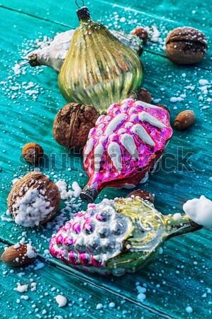 ice cream in  bowl and two waffle cup Stock photo © nikolaydonetsk