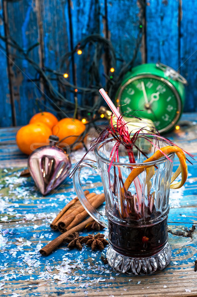 伝統的な 冬 カクテル ワイングラス ワイン クリスマス ストックフォト © nikolaydonetsk