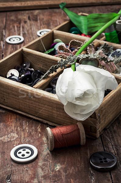 потока Кнопки швейных букет свежие Сток-фото © nikolaydonetsk