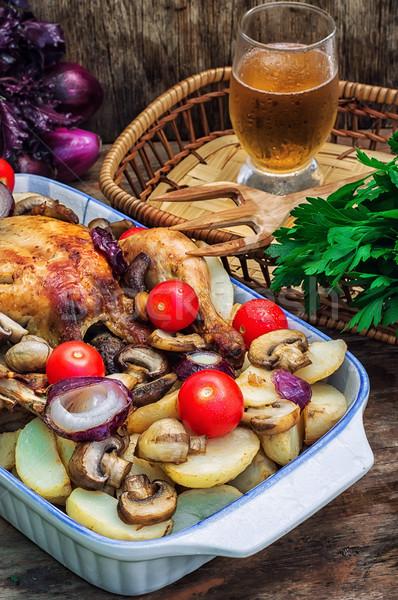все куриные овощей стекла продовольствие Сток-фото © nikolaydonetsk