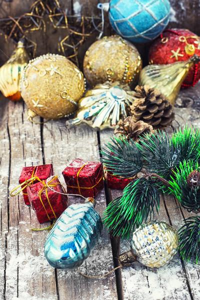 装飾 クリスマス 装飾 木製 ガラス ストックフォト © nikolaydonetsk