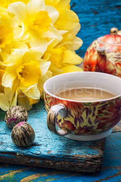 Sabah çay taze bahar Stok fotoğraf © nikolaydonetsk
