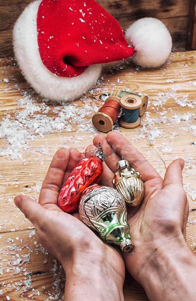 Christmas toys and holiday Christmas Stock photo © nikolaydonetsk