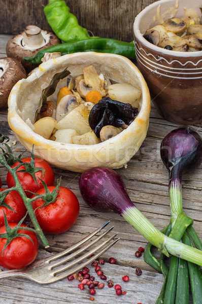 vegetable stir-fry recipe traditional Ukrainian cuisine Stock photo © nikolaydonetsk