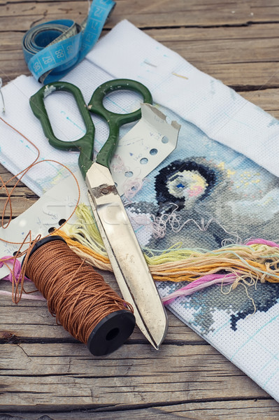 Needlework Stock photo © nikolaydonetsk